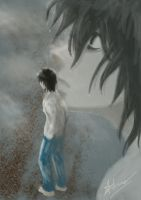 L Lawliet - Near Death- by Cleochrome