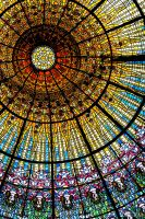 Stained glass Palau Musica Catalana by slashero