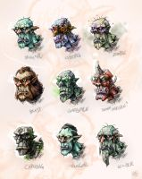 Orc Heads by Randommonkies