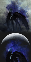 Nightmare Moon shirt by CosmicUnicorn