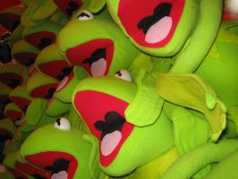 kermit dolls at easter show by hayleybebe