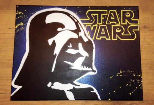 Darth Vador stencil - Dark Vador pochoir by Megapoires