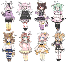 spooky cuties adopt set CLOSED by carcaradopts