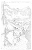 Snowmanilas #1, Page 4 PENCILS by Theamat