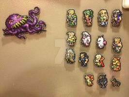 Final Fantasy VI Magnet Set by Blackmageheart