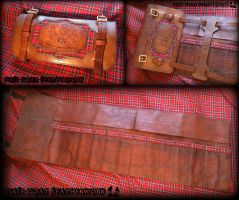 Scottish Leather Tool Roll by Half-Goat