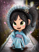 Vanellope with kimono by summilly