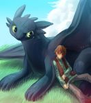 HTTYD Hiccup and Toothless by RacoonKun