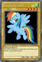 Rainbow Dash card by Blackwind06