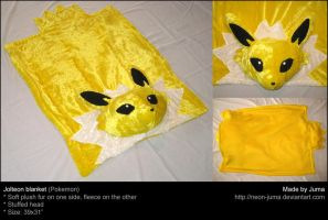 Jolteon plush blanket by Neon-Juma