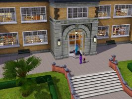 Sims 3 - Beauregarde Girls and I met a school boy by Magic-Kristina-KW