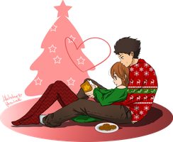 Natsume and Sasayan - Christmas Time. by WhitedoveHemlock