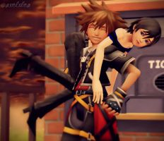 Found myself a Xion by Axelxlea
