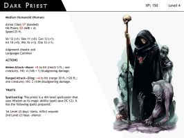 DnD-Next-Monster Cards-Dark Priest by dizman
