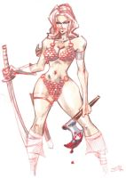 SKETCH Red Sonja by jasinmartin