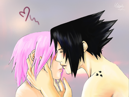 Sasu saku kiss - colored by MartyIsi