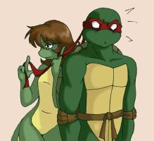 TMNT: Raph and Mona by Ty-Chou