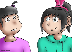 Boo and Vanellope by AniLover16