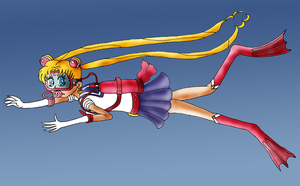 Underwater Sailor Moon by ZeFrenchM