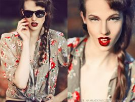Vintage girl by blooding