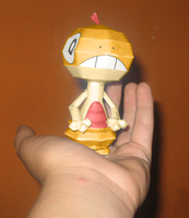 Scraggy Papercraft 2 by Sabi996
