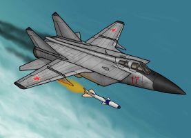 MiG-31 Foxhound by PatchKatz
