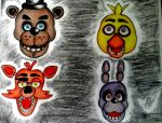 five nights at freddy's by ladycastilla