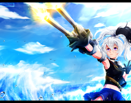 Flower - Kantai Collection crossover [commission] by Kortrex