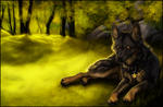 Fellow. Sunlight Forest by WhiteSpiritWolf