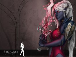 Lineage II Fanart Wallpaper by Cyzra