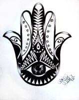 Tattoo Design Hamsa 02 by Ninaschee