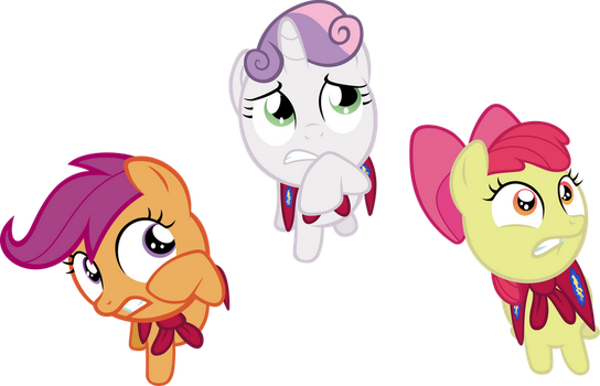 Request: CMC cowering in fear by Pangbot