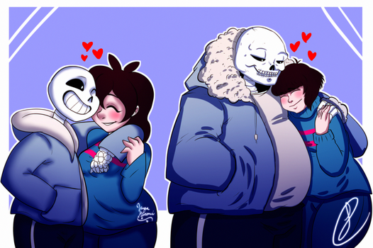 CollabArt: Sans x Frisk by XxLevanaxX