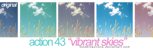 "action 043 ""VIBRANT SKIES"" by ModernActions"