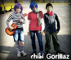 Chibi Gorillaz by SukerForTheCardGames