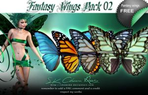 Fantasy Wings Pack 02 by SK-DIGIART