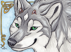 ACEO: Crescentmoon by Kitsune--Rin