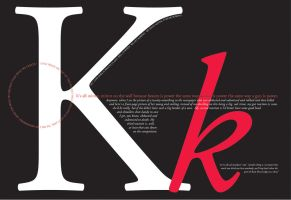 Adobe Garamond.... font poster by Kaitibug