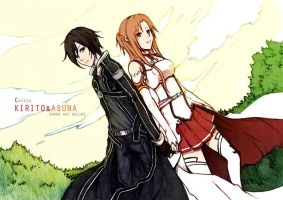 Chizzachan's Kirito and Asuna by satanX15