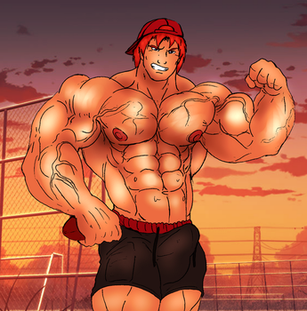 Commission: Beefed up oc Sean by Somdude424