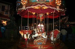 little carousel in darkness by ingeline-art