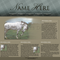 Running Horse Web Template by HLRynlar