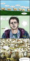 Supernatural S9.3 : Castiel try counting sheep ! by noji1203