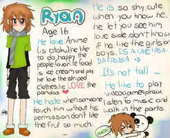 My O.C Ryan by Menathehedgehog