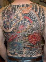 Japanese back-tattoo by RedCraneTattoo