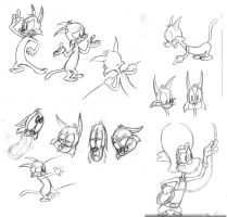 kitten sketches by brien-likes-cartoons
