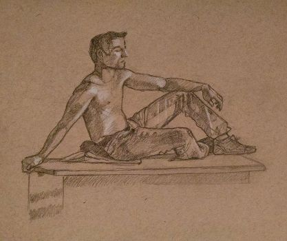 Figure Drawing Class Final Pose by SentWest