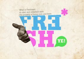 FRESH - typography by Pinpoint-Designs