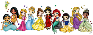 Disney Princesses among the Butterflies by x-Luna-chan-x