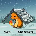 130812 - Yay Monday, Charmander by fablefire